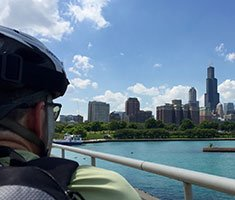 Chicago by Bike, Ferris Wheel and River Boat!